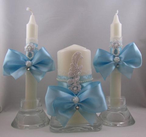 голубые свечи домашний очаг купить