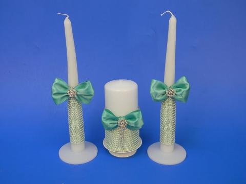 свадьба тиффани свечи очаг фото