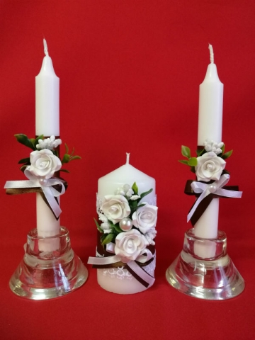 шоколадные свадбные свечи