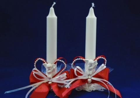 свечи очаг красные купить