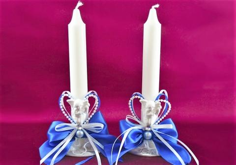 свадебные свечи синие фото