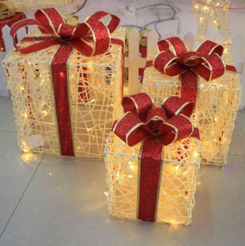 светящиеся подарочные коробки на новыйгод фотозона