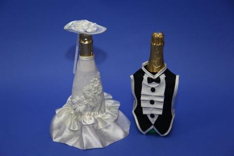 элегантное украшение шампанского