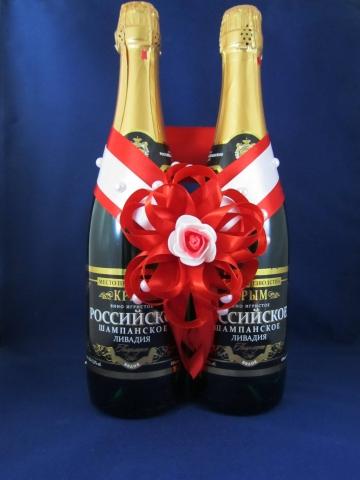 красные украшения на шампанское купить