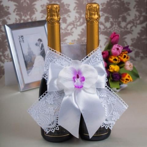 свадебное шампанское белая орхидея
