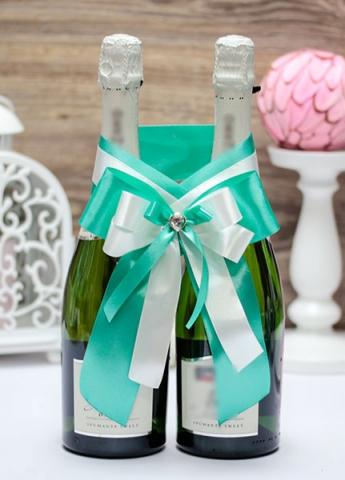 украшение на шампанское тиффани фото