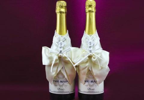 украшение шампанского фото