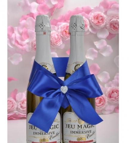 бант на шампанское синий купить