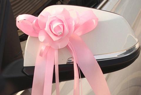 украшения на зеркала машины розовые купить