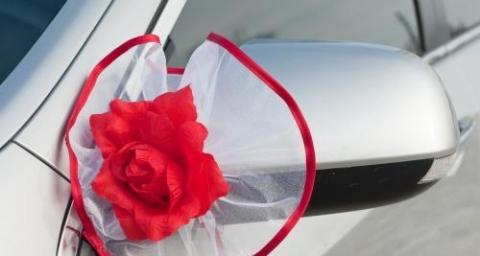 украшение на ручки машины, зеркала красные розы купить