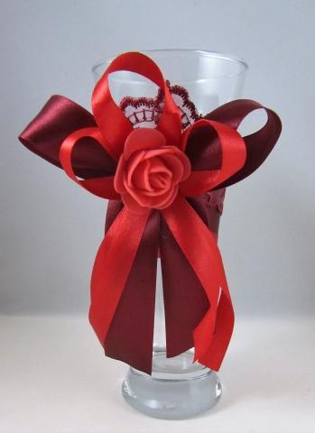 украшения для стола бордовая свадьба