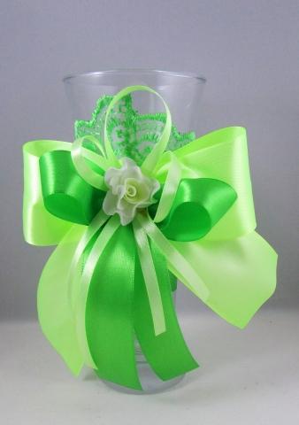 вазочка салатовая для украшения стола молодоженов