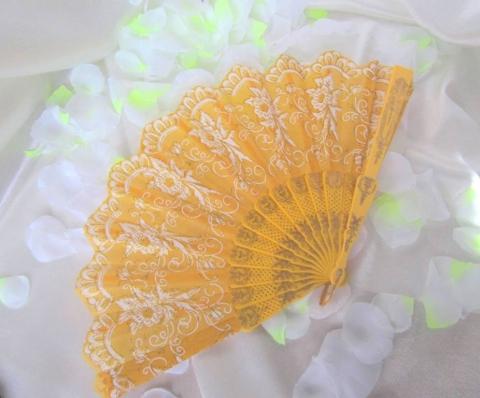 желтый веер картинка
