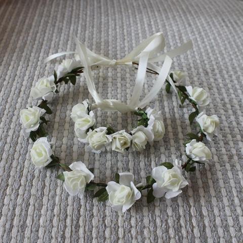 венок из роз на голову белый фото