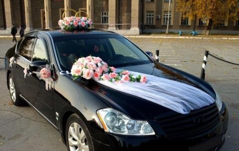 розовый комплект украшений на свадебную машину фоо