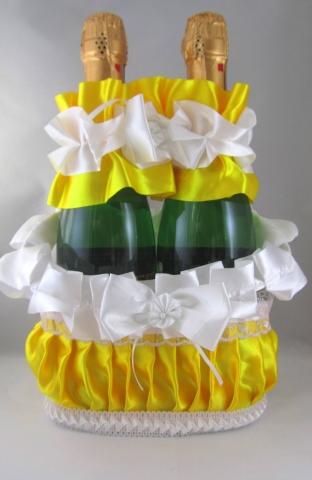 желтые свадебные украшения фото
