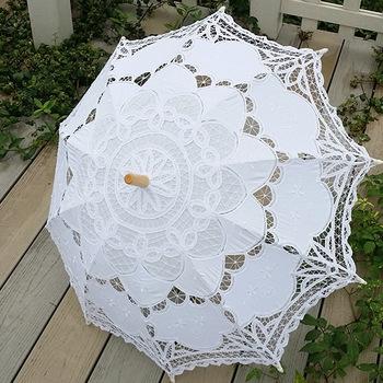 зонт кружевной купить, зонт белый кружевной