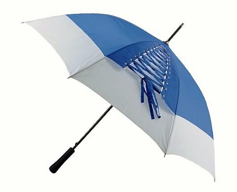 зонт трость синий с белым купить