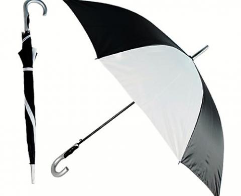 зонт черно-белый купить