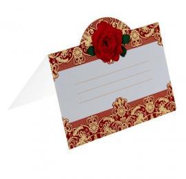 банкетная карточка красная роза