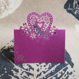 банкетная карточка сиреневая, фиолетовая фото