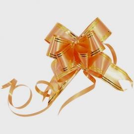 Бант для подарка персиковый 000974