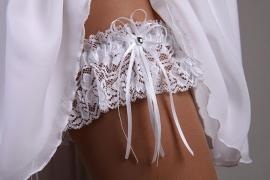 подвязка невесты белая стрейч кружево купить