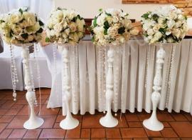 цветочные композиции на гостевые столы на свадьбу