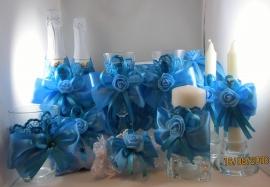 бирюзовый набор свадебных аксессуаров купить