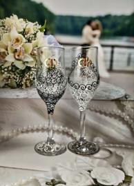Бокалы для шампанского Жених и Невеста 2 шт. 20см. 002533