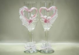 свадебные бокалы сердца