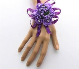 Браслет невесты сиренево-фиолетовый 002023