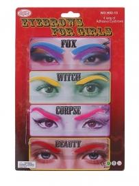 брови накладные разноцветные