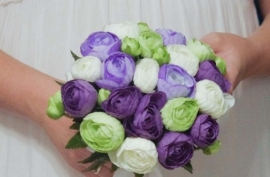 букет сиренво-фиолетовый фото