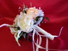 дублер с пионами и чайными розами фото