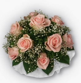 букет дублер розовые розы купить