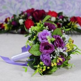 сиреневые, фиолетовые букеты дублеры фото