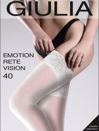 Чулки свадебные белые Чулки женские EMOTION RETE VISION 40 ден цвет белый (bianco), р-р 1-2 (XS-S) 001882