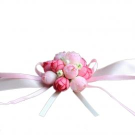 цвнты на руку для подружек невесты фото розовый