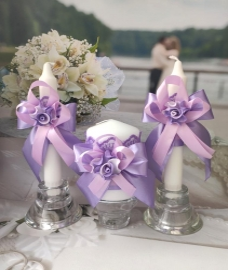 """Домашний очаг: комплект из 3 свечей. Коллекция """" Восторг"""" 009032"""