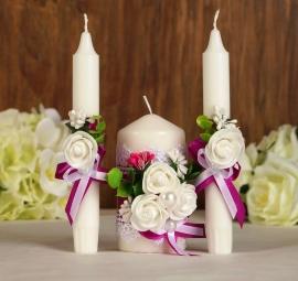 свечи очаг фуксия