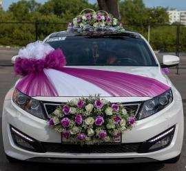 фиолетовые украшения на машину фото