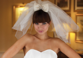 прикольная свадебная фата короткая