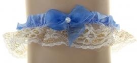 голубые свадебные подвязки купить