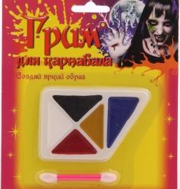 грим на хеллоуин, грим для лица, театральный грим