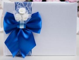 книга пожеланий синяя фото