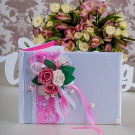 книга пожеланий ярко-розовая купить