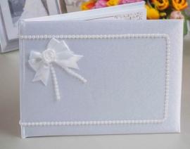 книга свадебных пожеланий белая ручная