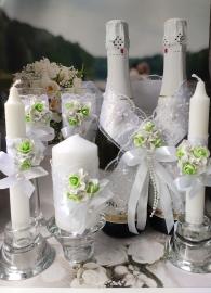мятное белые свадебные аксессуары фото
