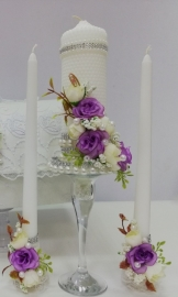 свечи сиреневые очаг набор фото